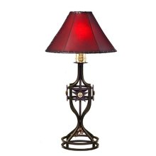 """21"""" Forged Iron Table Lamp W/Stars & Conchos No Shade"""