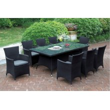 222 / Liz.p19- 7PC OUTDOOR PATIO TABLE SET [P50271(1)+P50131(8)]