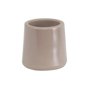 Beige Replacement Foot Cap for Beige and Brown Plastic Folding Chairs Product Image