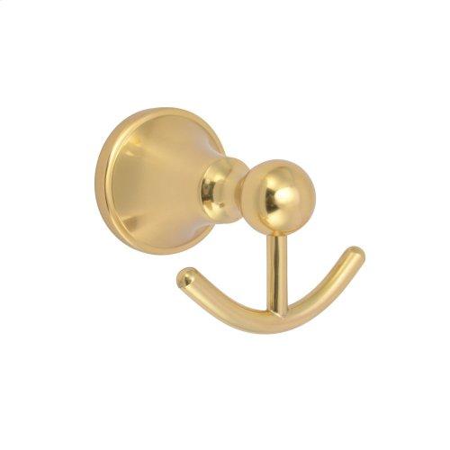 Gleason Double Robe Hook - Antique Brass