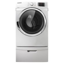 7.5 cu. ft King-size Capacity Gas Front-Load Dryer (White)