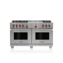 """60"""" Dual Fuel Range - 6 Burners and French Top"""