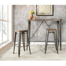 Indio Set With Rectangle Table and 2 Backless Chairs