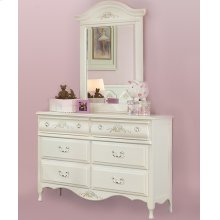 Charming Double Dresser and Shaped Mirror