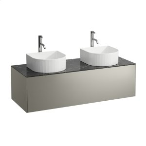 Gold & Nero Marquina Drawer element, 1 drawer, matching bowl washbasins 812340, 812341, 812342, 812343, cut-outs left and right incl. drilled tap holes Product Image
