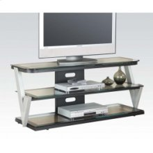 "TV Stand W/clear Gl (""v"" Style"