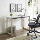 Medley Glass Top Writing Desk in Natural Clear Product Image