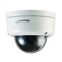 3MP Flexible Intensifier® Technology Dome IP Camera, 2.9-12mm Motorized Lens, White Housing