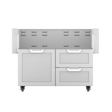 "42""dbl Drawer and Door Cart"