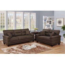 F6406 / Cat.19.p42- 2PCS SOFA SET BLK COFFEE
