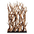 Ibiza Reclaimed Teak Root Divider, Natural Product Image