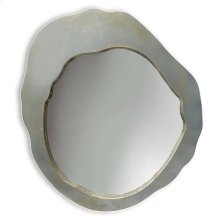MILLER MIRROR  Aluminum Finish on Metal Frame  Plain Glass Beveled Mirror
