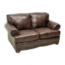 Love Seat in Tiburon Tobacco