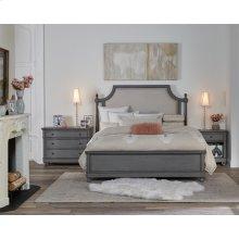 Bella Grigio - King/california King Upholstered Panel Headboard - Chipped Gray Finish