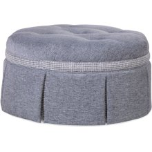 """Downing 32"""" Round Cocktail Ottoman"""