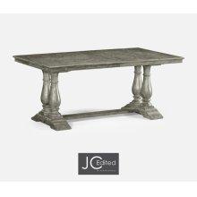 "71"" Antique Dark Grey Rectangular Extending Dining Table"