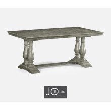 "71"" Antique Dark Grey Rectangular Extending Dining Table"