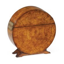 Circular Walnut & Inlay Placemat Box
