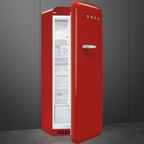 """Approx 24"""" 50'S Style Refrigerator with ice compartment, Red, Right hand hinge"""