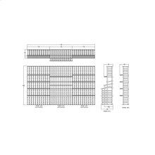 Apex 7' Mahogany Wine Rack Kit (R3, R1, R3) - READY TO SHIP