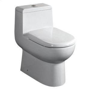 Magic Flush eco-friendly one piece toilet with a siphonic action dual flush system, an elongated bowl, and a 1.6/1.1 GPF capacity. Product Image
