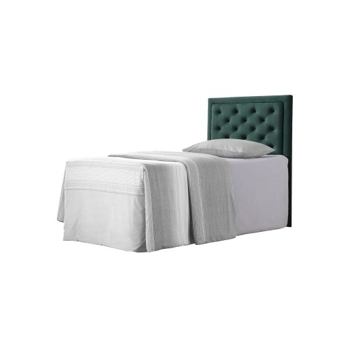 Emerald Home Twin 3/3 Upholstered Headboard Emerald Green #501
