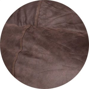 Cover for Pillow Pod or Footstool - Faux Leather - Coffee Product Image