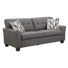 Sofa Espresso W/2 Accent Pillows
