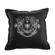 Logo Pillow Black Linen