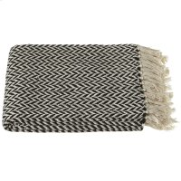 Black & Cream Arrow Stripe Throw Product Image