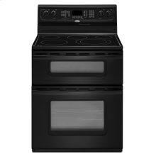 Black Whirlpool Gold® 6.3 cu. ft. Double Oven Freestanding Range