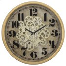 Gold Round Gear Clock Product Image