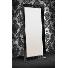 A&X Regal - Modern Black Crocodile Lacquer Mirror