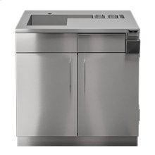 """OUTDOOR KITCHEN CABINETS IN STAINLESS STEEL  PURE 36"""" Bar Station 2 Doors"""