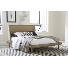 Spindle Full Upholstered Bed