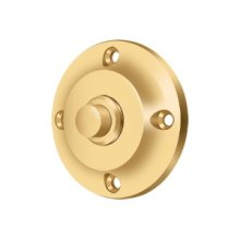 Bell Button, Round Contemporary - PVD Polished Brass