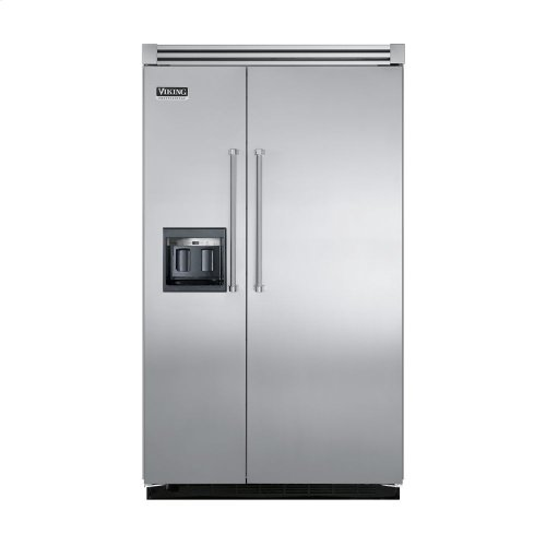"""Stainless Steel 48"""" Side-by-Side Refrigerator/Freezer with Dispenser - VISB (Integrated Installation)"""
