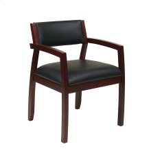 Napa Mahogany Guest Chair With Upholstered Back