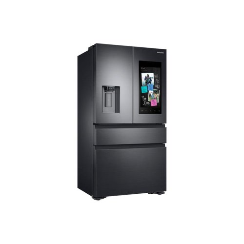 22 cu. ft. Family Hub Counter Depth 4-Door French Door Refrigerator in Black Stainless Steel