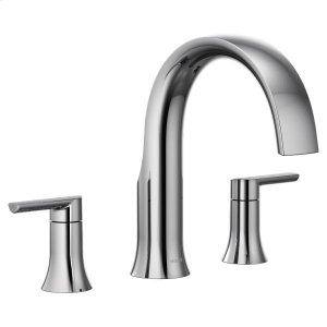 Doux chrome two-handle roman tub faucet Product Image