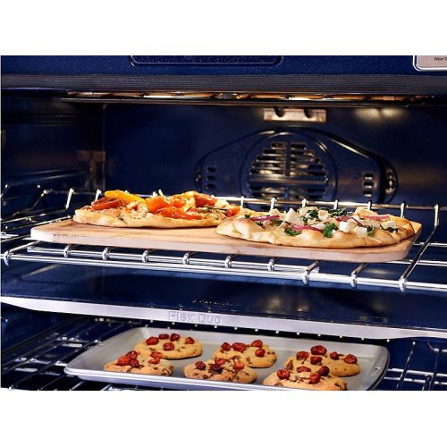 """30"""" Flex Duo Chef Collection Double Wall Oven in Matte Black Stainless Steel"""