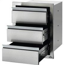 "18"" X 24"" Triple Drawer , Stainless Steel"