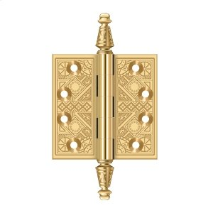 """3 1/2""""x 3 1/2"""" Square Hinges - PVD Polished Brass Product Image"""