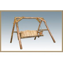 Glacier Country Log Lawn Swing