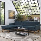 Engage Left-Facing Sectional Sofa in Azure Product Image