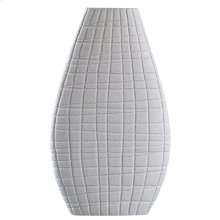 VOLOS VASE  Sand Gray Finish on Ceramic