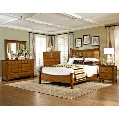 Bedroom - Pasadena Revival Landscape Mirror