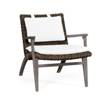 Outdoor occasional chair, upholstered in MAZO