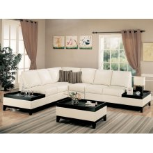 "SECTIONAL,BEIGE/F 88""LX72-1/4""WX37-1/2""H"