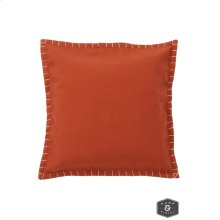EVAN PILLOW- ORANGE  Hand Stitching on Felt  Down Feather Insert